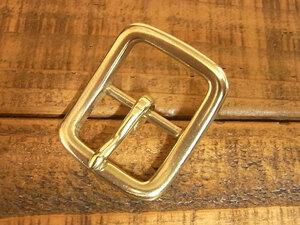 バックル 真鍮 無垢 ブラス 24mm レザー ベルト 革 2.4cm 美錠 尾錠 日型 カスタム レザークラフトに 107