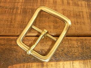 バックル 真鍮 無垢 ブラス 30mm レザー ベルト 革 3cm 美錠 尾錠 日型 カスタム レザークラフトに 107