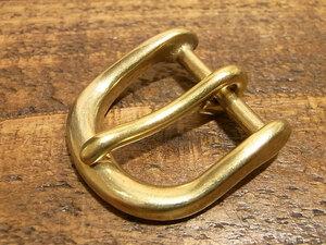 バックル 真鍮 無垢 ブラス 24mm レザー ベルト 革 2.4cm 美錠 尾錠 口型 カスタム レザークラフトに 103