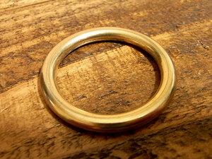 マルカン 丸カン 真鍮 無垢 ブラス 30mm レザー ベルト 革 3cm リング カスタム キーホルダー レザークラフトに