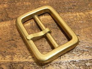 バックル 真鍮 無垢 ブラス 30mm レザー ベルト 革 3cm 美錠 尾錠 日型 カスタム レザークラフトに 102