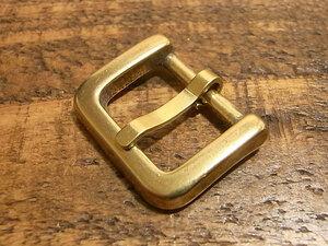 バックル 真鍮 無垢 ブラス 18mm レザー ベルト 革 1.8cm 美錠 尾錠 ロ型 カスタム レザークラフトに 101