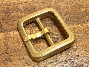 バックル 真鍮 無垢 ブラス 24mm レザー ベルト 革 2.4cm 美錠 尾錠 日型 カスタム レザークラフトに 102