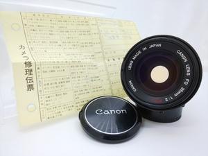 【中古】Canon FD 35mm F2 S.S.C. Ⅰ 凹 ◯マーク 2021/10/14 清掃済 キャノン 30日保証