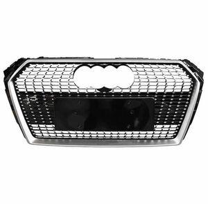 高品質◎アウディ A4/B9 NEW◇ダイヤモンドグリル フロントグリル 【エンブレム&quattroロゴ付き】 Audi A4 S4 RS4 【2017-】後期 社外品