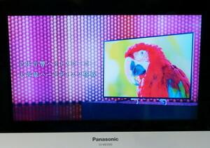 パナソニック プライベート・ビエラ SV-ME5000-W ポータブル地上デジタルテレビ