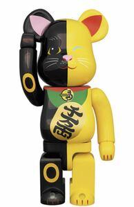 BE@RBRICK 招き猫 黒×黄 1000% 新品未開封品