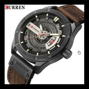 特価!高級ブランド 男性ミリタリースポーツ腕時計 メンズクォーツ 日付時計男カジュアル革腕時計 レロジオ Masculino