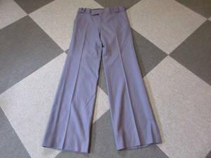 GUCCI カシミヤ入り ウールパンツ Size38 うす紫 スラックス ローライズ ブーツカット フレア グッチ 青山 トムフォード ズボン レディース