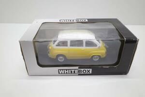 MQ58B◆White Box 1/24 Fiat フィアット 600 Multipla ムルティプラ 1960 黄/白 イエロー/ホワイト ホワイトボックス