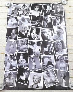 モノクロポスター「マリリン・モンロー/Marilyn Monroe」モンロー様々な写真コラージュ