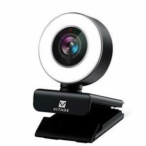 格安 ウェブカメラ フルHD 1080P マイク内蔵 LEDライト付き 広角 webカメラ 200万画素 オートフォーカス