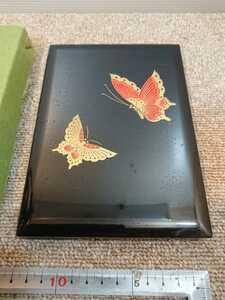 c1618 蝶々 電話帳 漆器