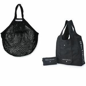DEAN&DELUCA ショッピングバッグ ブラック エコバッグ ディーン&デルーカ 黒 ネットバック