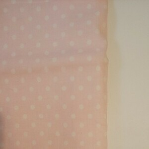 ダブルガーゼ ドット柄 ピンク 生地巾約108cm×約48~50cm