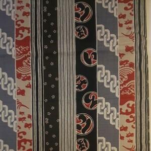 綿 和風柄プリント生地 生地巾約112cm×50cm
