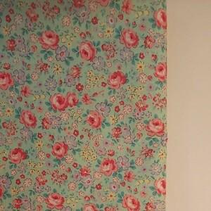 YUWA 松山敦子さん 30's Collection 綿100% 花柄 グリーン系 生地巾約110cm×約50cm