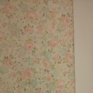 YUWA 松山敦子さん 30's Collection 綿100% 花柄 クリーム系 生地巾約55cm×約50cm