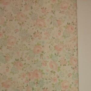 YUWA 松山敦子さん 30's Collection 綿100% 花柄 クリーム系 生地巾約110cm×約50cm