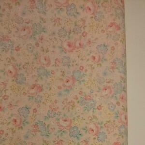 YUWA 松山敦子さん 30's Collection 綿100% 花柄 ピンク系 生地巾約55cm×約50cm