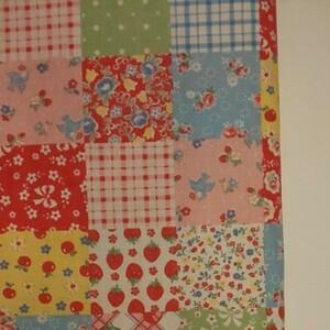 YUWA 松山敦子さん 30's Collection 綿100% パッチワーク柄 生地巾約55cm×約50cm
