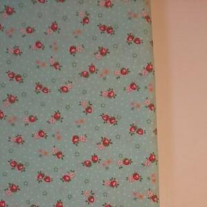 YUWA 松山敦子さん 30's Collection 綿100% ミニいちご柄 ミントグリーン 生地巾約55cm×約50cm