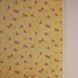 YUWA 松山敦子さん 30's Collection 綿100% ミニいちご柄 イエロー 生地巾約110cm×約50cm