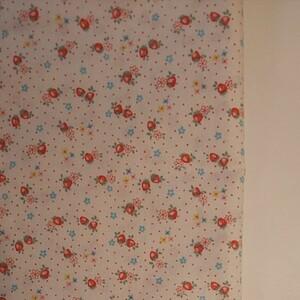 YUWA 松山敦子さん 30's Collection 綿100% ミニいちご柄 ホワイト 生地巾約55cm×約50cm