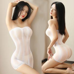 A207W シースルー ミニワンピース セクシー ベビードール ミニ ドレス 極薄 ボディコン ワンピース 白