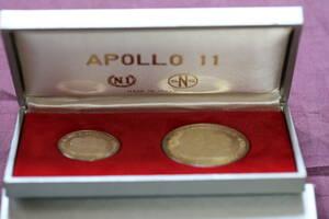 1969 Аполлон - 11 в память о посадке на луне 2 шт.