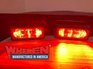 WHELEN ウィレン LEDグリル赤色灯 「LIN3」2個セット ☆パトライト パトカー 覆面 白バイ 消防 レッカー 緊急車両 ストロボ 赤灯