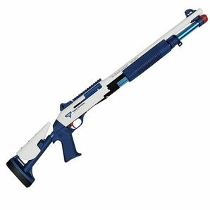 UDL XM1014 エアコキ ライブカート ショットガン風おもちゃ銃 ブローバック排莢再現 スポンジ弾 伸縮ストック(美品)