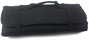 黒 【Rurumi】工具 道具 収納 ツール ロール バッグ 22 ポケット ケース ポーチ 袋 (黒)