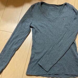 TOMMY HILFIGER★トミーヒルフィガー★長袖Tシャツ★ロンT★Vネック美品M