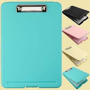 大人気 新品 未使用 a4 クリップボ-ド T-CV 便利 (青緑) クリップファイル A4 バインダ- a4 多機能ボ-ド ライティングパッドカバ-