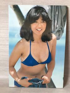 良品 宮崎美子 ミノルタ カメラCM 木製パネル ポスター 昭和レトロ