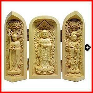 新品2Pc 木彫仏像 彫刻 仏壇 仏箱 三開仏像 ツゲ 迅速対応 ご本尊 三開仏 弘法大師 仏龕 不動尊SiSeACWWPU