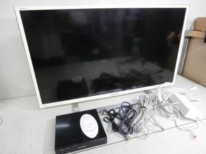 ◎F1 SHARP/シャープ AQUOS/アクオス 32インチ液晶TV テレビ LC-32F5 フリースタイル リモコン チューナー付 通電OK 未チェック ジャンク扱
