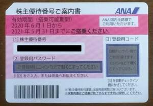 全日空 ANA株主優待券 有効期間2021年11月30日(延長)[1]
