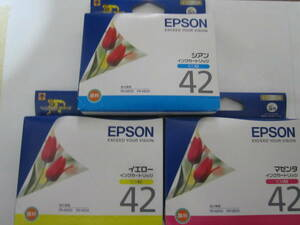【送料無料】EPSON エプソン純正品 インクカートリッジ ICC42 ICM42 ICY42 推奨使用期限切れ