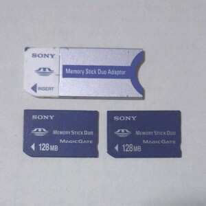 メモリースティック DUO 128MB アダプター