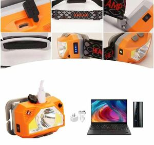 LEDヘッドライト ヘッドランプ LEDヘッドランプ USB充電器 高輝度 小型軽量 1個