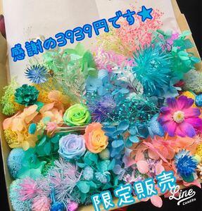 数量限定★3939円BOX作りました(^^) ハーバリウム花材 ハーバリウム プリザーブドフラワー