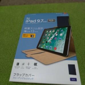 エレコム iPad 第6世代ソフトレザーケースブルーTB-A18RWVFUBU