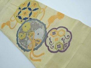 5428407: アンティーク 鏡裏に菊・七宝模様織り出し名古屋帯(着用可)