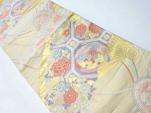 779748# 【1円~】舞扇鳳凰絞織り出し袋帯