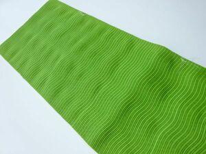 781267# 【1円~】未使用品 よろけ横段模様織り出し夏用名古屋帯