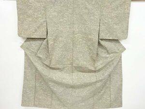 4741034: アンティーク 家屋に樹木模様織り出し手織り紬着物