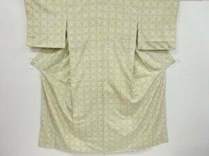 4740816: アンティーク 幾何学模様織り出し手織り紬着物