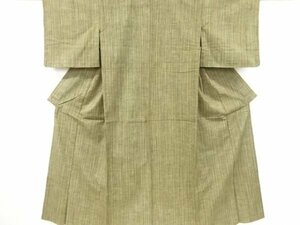 4765742: アンティーク 縞織り出し手織り紬単衣着物
